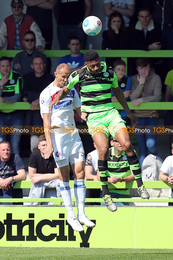 Keanu Marsh-Brown of Forest Green Rovers and Paul Benson of Dagenham and Redbridge during Forest Green Rovers vs Dagenham & Redbridge, Vanarama National League Play-Off Football at The New Lawn on 7th May 2017
