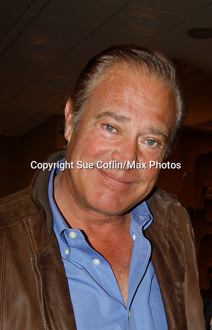 """John James (AMC, ATWT, Dynasty, The Colbys)  appearS at 25th Anniversary of Chiller Theatre on October 25, 2015 at Sheraton Hotel, Parsippany, NJ. Both Barbara and John were in the same movie - """"Lightning: Fire From The Sky"""" (Photo by Sue Coflin/Max Photos)"""