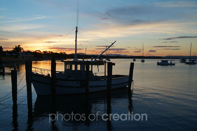 Hastings River at Sunset. Hibbard.Port Macquarie NSW