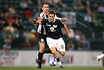26 August 2011: Harrisburg's Andrew Welker (12) and Rochester's Tyler Rosenlund (8). The Harrisburg City Islanders defeated the Rochester Rhinos 2-1 in their USL PRO semifinal played at Sahlen's Stadium in Rochester, New York.