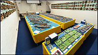 BNPS.co.uk (01202 558833)Pic: LeeMcLean/BNPS<br /> <br /> Master matchstick modeller Philip Warren (87) has spent 70 years building an incredible fleet of 484 warships.<br /> <br /> Master modeller Philip Warren has spent 70 years building an incredible fleet of 484 warships and he says he is not ready to sail into the sunset.<br /> <br /> Philip, 87, has dedicated his entire adult life to crafting the matchstick armada and has built every class of ship in the Royal Navy since 1945, using over a million matchsticks.<br /> <br /> He recently completed a magnificent 3ft replica of the HMS Queen Elizabeth aircraft carrier which took him eight months.