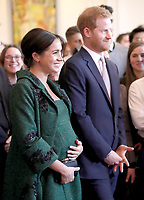 Meghan Markle Duchess of Sussex and Prince Harry Duke of Sussex during a Commonwealth Day Youth