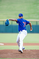 AZL Cubs starting pitcher Yunior Perez (72) delivers a pitch during a game against the AZL Brewers on August 1, 2017 at Sloan Park in Mesa, Arizona. Brewers defeated the Cubs 5-4. (Zachary Lucy/Four Seam Images)