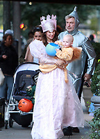 NEW YORK, NY October 31, 2017  Hilaria Thomas, Leonardo Angel Charles Badwin, Alec Baldwin,dress for Halloween in New York October 31,  2017. Credit:RW/MediaPunch