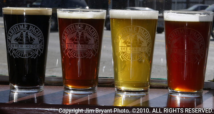 Porter, Amber, Pale Ail and Wheat beer.. Jim Bryant Photo. ©2010. All Rights Reserved.
