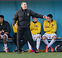 East Fife manager Gary Naysmith. <br /> <br /> <br /> 15/02/2014   jspa017_smuir_v_efife     <br /> Copyright  Pic : James Stewart   <br /> <br /> James Stewart Photography 19 Carronlea Drive, Falkirk. FK2 8DN      Vat Reg No. 607 6932 25   Tel:  +44 (0)7721 416997<br /> E-mail  :  jim@jspa.co.uk   If you require further information then contact Jim Stewart on any of the numbers above........