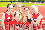 Tarbert NS athletes at the Kerry Primary School Sports County Finals in An Riocht Castleisland was l-r: Joanne McDermott, Niamh Cullhane, Rachel Moriarty, Erin Moriarty, Murnie Wall and Katie Lehane