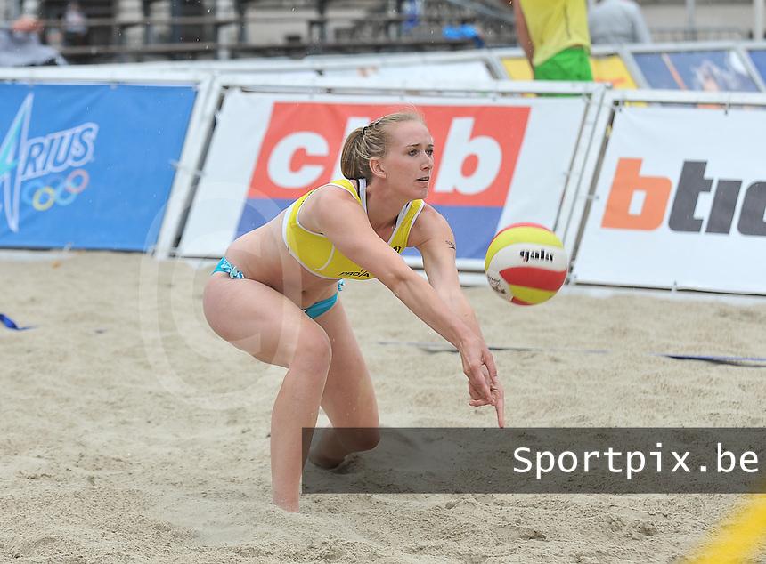 Belgian Beachvolley Tour Kortrijk : Maud Catry<br /> foto VDB / Bart Vandenbroucke