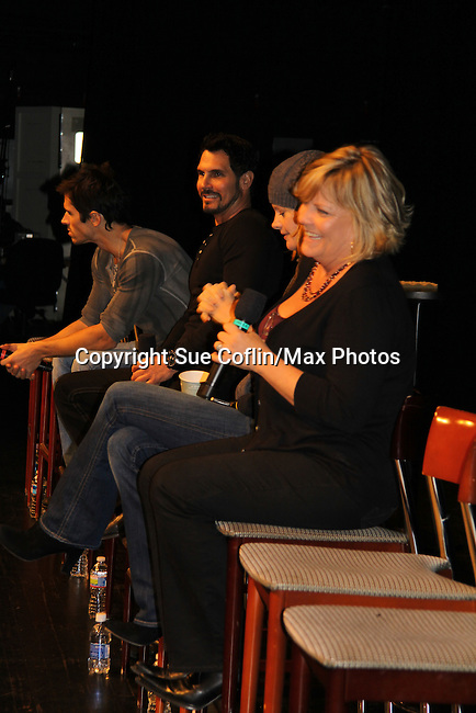 B&B Brandon Beemer, Don Diamont, Y&R Michelle Stafford and OLTL Kim Zimmer at the Soapstar Spectacular starring actors from OLTL, Y&R, B&B and ex ATWT & GL on November 20, 2010 at the Myrtle Beach Convention Center, Myrtle Beach, South Carolina. (Photo by Sue Coflin/Max Photos)