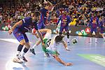 League ASOBAL 2017-2018 - Game: 14.<br /> FC Barcelona Lassa vs Helvetia Anaitasuna: 38-26.<br /> Raul Entrerrios vs Raul Nantes.