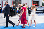 (L to R) King Felipe VI of Spain, Queen Sofia, Queen Letizia, Princess of Asturias Leonor and Infant Sofia arrive to Teatro Campoamor for Princess of Asturias Awards 2019 in Oviedo. October 18, 2019 (Alterphotos/ Francis Gonzalez)