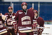 Jimmy Hayes (BC - 10) - The Merrimack College Warriors defeated the Boston College Eagles 5-3 on Sunday, November 1, 2009, at Lawler Arena in North Andover, Massachusetts splitting the weekend series.