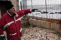 Roma 22  Febbraio 2010.Idroscalo di Ostia,una della case che sarà abbattuta dalle  ruspe comune di Roma.Il proprietario il sig.Angelo vive in questa casa dal 1965