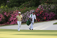 Satoshi Kodaire (USA) on the 13th green during the 1st round at the The Masters , Augusta National, Augusta, Georgia, USA. 11/04/2019.<br /> Picture Fran Caffrey / Golffile.ie<br /> <br /> All photo usage must carry mandatory copyright credit (&copy; Golffile | Fran Caffrey)