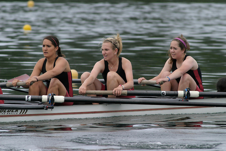 GOLD RIVER, CA - May 1:  Stephanie Zenter, Vanessa Delgado, Chelsea Cumbaa, and coxswain Midori Shibuya of Santa Clara during the West Coast Conference Rowing Championships at Lake Natoma on May 1, 2009 in Gold River, California.
