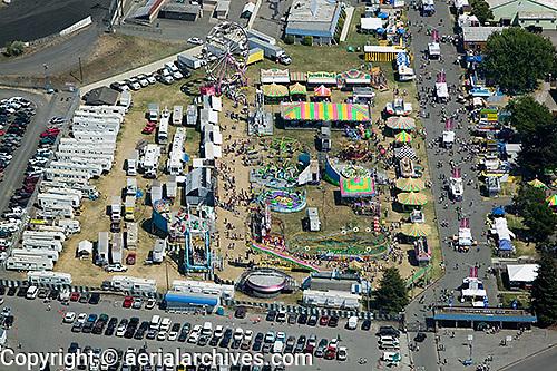 aerial photograph Marin Sonoma county fairgrounds Petaluma, Sonoma county, California