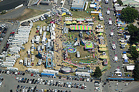 aerial photograph Marin Sonoma county fairgrounds Petaluma, Sonoma county, California