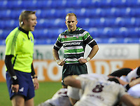 READING, ENGLAND :  Shane Geraghty of London Irish  during the Amlin Challenge Cup match between London Irish and Bordeaux-Begles at Madejski Stadium on January 18, 2013 in Reading, England.