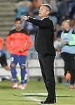 Getafe's coach Fran Escriba during La Liga match.September 18,2015. (ALTERPHOTOS/Acero)