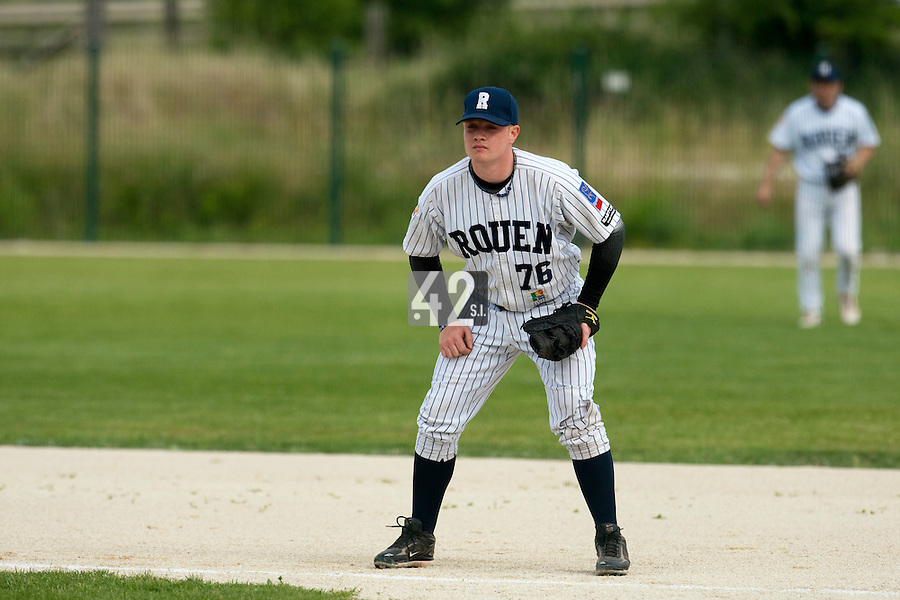 21 May 2009: David Gauthier of Rouen is seen during the 2009 challenge de France, a tournament with the best French baseball teams - all eight elite league clubs - to determine a spot in the European Cup next year, at Montpellier, France.