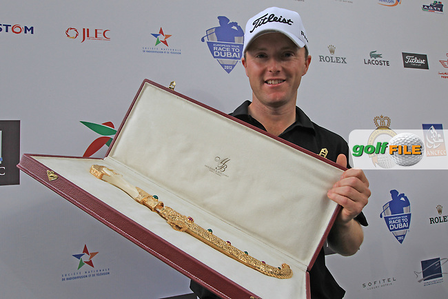 Michael Hoey (NIR) after winning the Trophée Hassan II, Golf du Palais Royal, Agadir, Morocco 25/03/12.Picture Fran Caffrey www.golffile.ie