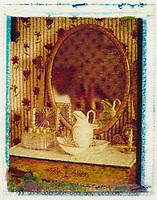 Europe/France/Ile de France/92/ Hauts-de-Seine/Chatenay-Malabry: La Maison de Chateaubriand -détail salle de bain d'une chambre