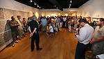 Supporters attend a final reception for the  Always Lost: A Meditation on War exhibit at Western Nevada College in Carson City, Nev., on Thursday, July 28, 2016. <br />