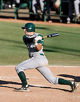 Adam Buschini of Cal Poly playing against Oral Roberts University in the Tempe Regionals at Packard Stadium, Tempe, AZ - 05/29/2009.Photo by:  Bill Mitchell/Four Seam Images