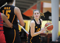 Action from the 2012 Dominion Post senior girls Wellington college basketball at the ASB Sports Centre, Kilbirnie, Wellington, New Zealand on Friday, 25 May 2012. Photo: Dave Lintott / lintottphoto.co.nz