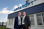 St Johnstone v FC Minsk...31.07.13<br /> Director Stan Harris and Associate Director Roddy Grant pictured at Grodno Airport in Belarus.<br /> Picture by Graeme Hart.<br /> Copyright Perthshire Picture Agency<br /> Tel: 01738 623350  Mobile: 07990 594431