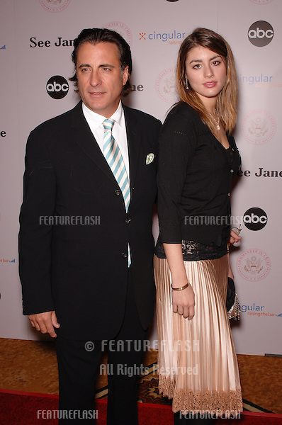 Actor ANDY GARCIA & daughter at premiere screening for ABC TV's new series Commander in Chief..September 21, 2005  Beverly Hills, CA.© 2005 Paul Smith / Featureflash
