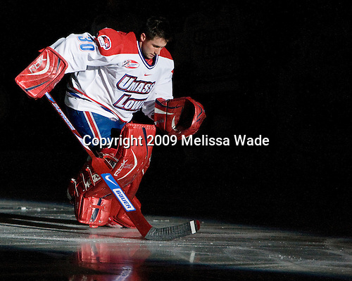 Carter Hutton (UMass-Lowell - 30) - The Northeastern University Huskies defeated the University of Massachusetts-Lowell Riverhawks 3-1 on Saturday, February 28, 2009, at the Paul E. Tsongas Arena in Lowell, Massachusetts.