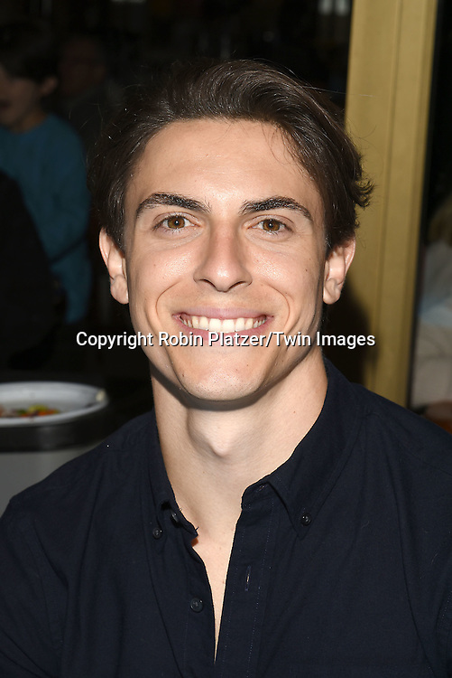 Derek Klena attends the Broadway Cares/Equity Fights Aids Flea Market and Grand Auction on September 25, 2016 at the Music Box Theatre and in Shubert Ally in New York, New York, USA. <br /> <br /> photo by Robin Platzer/Twin Images<br />  <br /> phone number 212-935-0770