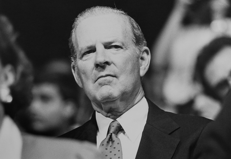 Secretary of State James Baker at Republican National Convention in August 1992. (Photo by Laura Patterson/CQ Roll Call via Getty Images)