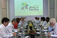 CARTAGENA - COLOMBIA, 10-02-2014 Juan  Manuel Santos, presidente de Colombia se reunió con empresarios extrangeros este lunes 10 de febrero de 2014 durante la VIII Cumbre de la Alianza del Pacífico, que se desarrolla en el Centro de Convenciones de Cartagena./ Juan Manuel Santos, president of Colombia met with foreign businessmen today monday 10 of February of 2014 during the VIII Summit Alianza del Pacifico at convention center in Cartagena, Colombia. Photo: VizzorImage /  Javier Casella - SIG / HANDOUT PICTURE; MANDATORY EDITORIAL USE ONLY/