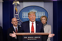 Donald Trump speaks on the Coronavirus
