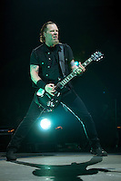 "Metallica perform during their 2008 - 2009 ""Death Magnetic Tour,"" promoting their newest album of the same name, Dec. 2, 2008 at General Motors Place in Vancouver. (Scott Alexander/pressphotointl.com)"