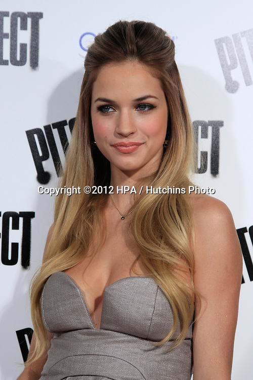 """LOS ANGELES - SEP 24:  Alexis Knapp arrives at the """"Pitch Perfect'"""" Premiere at ArcLight Cinemas on September 24, 2012 in Los Angeles, CA"""
