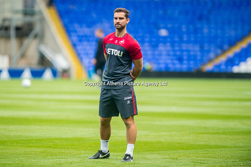 Sports scientist, Jordan Smith looks on during the Pre-season friendly match between Birmingham City and Swansea City at St Andrew's Stadium, Birmingham, England, UK. 29 July 2017