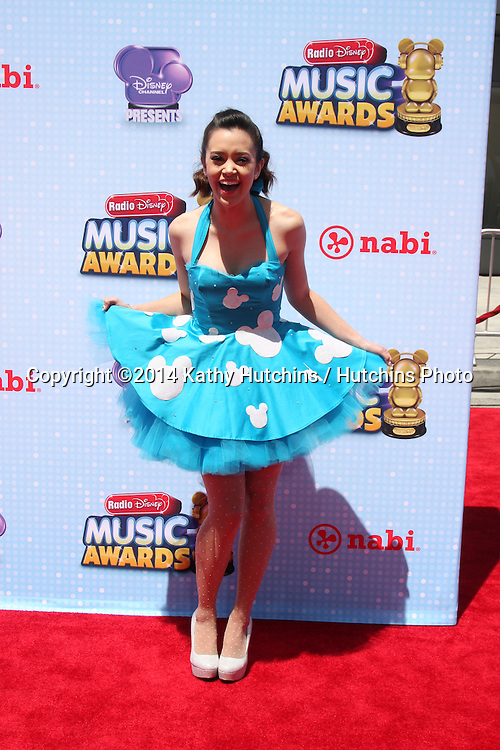 LOS ANGELES - APR 26:  Megan Nicole at the 2014 Radio Disney Music Awards at Nokia Theater on April 26, 2014 in Los Angeles, CA