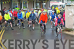 CHAIN GANG CHALLENGE: The start of the Chain Gang Cycling Club cycle challenges, The Conor Pass Challenge and The Blasket Blast at the Kerins O'Rahilly's clubhouse on Saturday.