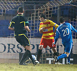 St Johnstone v Partick Thistle....09.02.11  Scottish Cup 5th Round.Murray Davidson scores his goal.Picture by Graeme Hart..Copyright Perthshire Picture Agency.Tel: 01738 623350  Mobile: 07990 594431