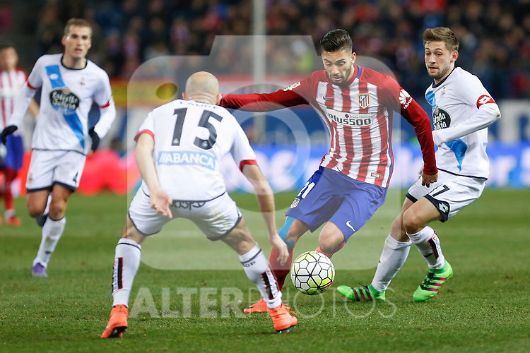 Atletico de Madrid´s Carrasco during 2015-16 La Liga match between Atletico de Madrid and Deportivo de la Coruna at Vicente Calderon stadium in Madrid, Spain. March 12, 2016. (ALTERPHOTOS/Victor Blanco)