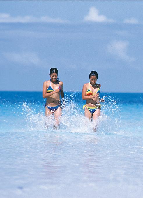 Having fun on the Beach in Boracay, Philippines