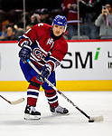 4 December 2008: Montreal Canadiens' center Tomas Plekanec from the Czech Republic warms up prior to facing the New York Rangers for their first meeting of the season at the Bell Centre in Montreal, Quebec, Canada. The Canadiens, celebrating their 100th season, played in the circa 1915-1916 uniforms for the evenings' Original Six matchup. *****Editorial Use Only*****..Mandatory Photo Credit: Ed Wolfstein Photo