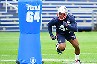 June 7, 2017: New England Patriots cornerback Kenny Moore (42) works on a drill at the New England Patriots mini camp held on the practice field at Gillette Stadium, in Foxborough, Massachusetts. Eric Canha/CSM