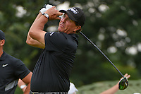 Phil Mickelson (USA) watches his tee shot on 12 during Rd4 of the 2019 BMW Championship, Medinah Golf Club, Chicago, Illinois, USA. 8/18/2019.<br /> Picture Ken Murray / Golffile.ie<br /> <br /> All photo usage must carry mandatory copyright credit (© Golffile | Ken Murray)