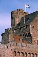 Europe/France/Bretagne/35/Ille-et-Vilaine/Saint-Malo: Détail des Remparts et du Château de la Duchesse Anne