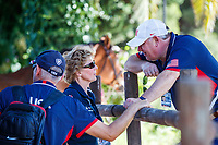 during the Horse Inspection. 2019 ESP-CSIO Barcelona - Longines FEI Nations Cup Jumping Final. Wednesday 2 October. Copyright Photo: Libby Law Photography