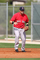 March 18, 2010:  First Baseman Brett Harper of the Boston Red Sox organization during Spring Training at Ft.  Myers Training Complex in Fort Myers, FL.  Photo By Mike Janes/Four Seam Images